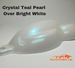 Tri Coat Teal Pearl Over Bright White Basecoat Gallon Car Auto Paint Kit