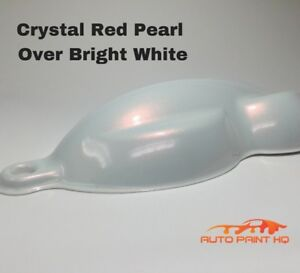 Tri Coat Red Pearl Over Bright White Basecoat Gallon Car Auto Paint Kit