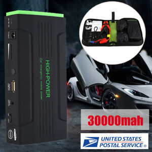 30000mah 12v Car Jump Starter Booster Portable Battery Charger Power Bank 600a