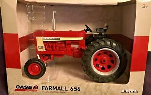 New Authentic Chase Farmall 656 Red Tractor 1 16 Scale Die cast Replica