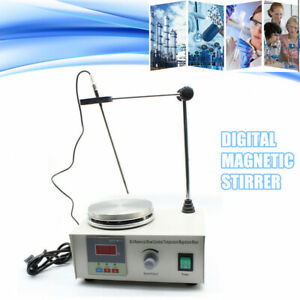 Magnetic Stirrer With Hotplate Digital Mixer Heating Plate Control 110v Usa