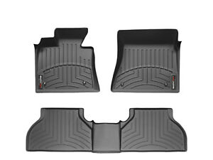 Weathertech Floor Mats Floorliner For Bmw X5 07 13 x6 08 14 1st 2nd Row Black