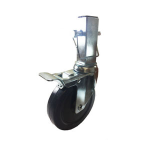 5 Hard Rubber Locking Scaffolding Caster With 1 25 Inch Square Shank