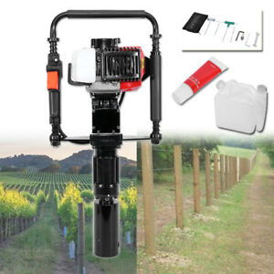 Portable Powered Gasoline Wood T post Driver Orchard Fence Timber Pile Tool
