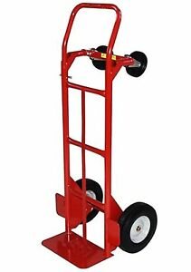 Milwaukee Hand Trucks 40180 Convertible Truck With 10 inch Puncture Proof New