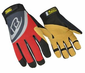 Ringers Gloves R 355 Rope Rescue Red Palm And Finger Protection Synthet New