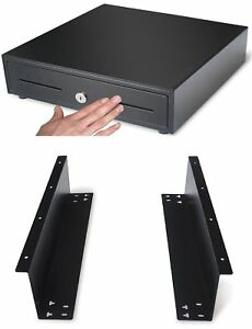 13 Heavy Duty Black push Open Cash Drawer 4b5c With Under Counter Mou New