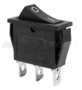 New Spdt On on Rocker Switch W black Actuator Kcd3 20a 125vac Usa Seller