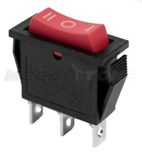 New Spdt On off on Rocker Switch W red Actuator Kcd3 20a 125vac Usa Seller