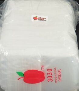 3030 Apple Mini Ziplock Baggies Clear 2 5mil Bags 3 X 3 1000 Bags 10p New