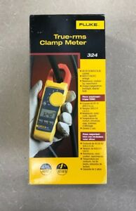 Fluke 324 True Rms Clamp Meter With Leads Case And Thermocouple Multimeter Hvac