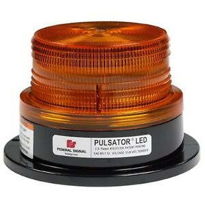 Federal Signal 212670 02sb Pulsator 451 Led Beacon Class 2 Permanent Mo New