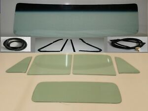 Green Glass 1954 Chevy Gmc Pickup Windshield Vent Door 3 Piece Back Seals Chrm