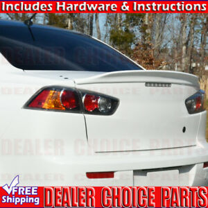 2008 2017 Mitsubishi Lancer Factory Duck Bill Style Spoiler Trunk Wing Unpainted