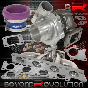 Vw Audi 1 8 Turbo Charger Manifold T3 T4 Oil Cooled Velocity Stack Purple