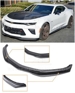 For 16 Up Chevrolet Camaro Ss T6 Style Front Bumper Lower Splitter Lip Wing