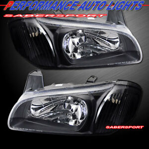 Set Of Pair Euro Clear Black Headlights For 2000 2001 Nissan Maxima Se Gxe Gle