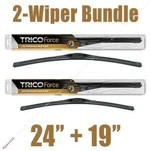 2 Wipers 24 19 Trico Force All Season Beam Wiper Blades 25 240 25 190