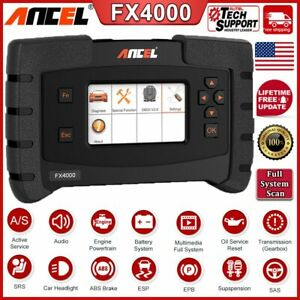 Full System Abs Airbag Srs Epb Engine Diagnostic Scanner Ancel Fx4000 Scan Tool