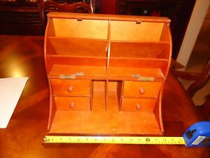Wooden Travel Portable Lap Stationery Writing Crafts Office Desk 14 X 9 1 2 X 6