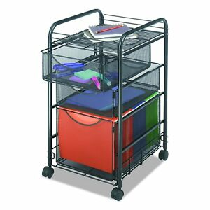 Small Storage Cart Organizer Drawers Plastic Wheels Office Rolling Home File New