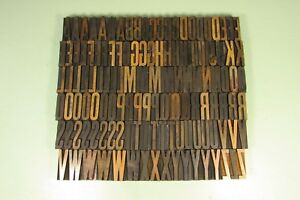 Hamilton Page Letterpress Block Gothic Special Wood Type 2 Inch Uppercase