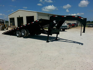 Kerr bilt 26 Gooseneck Hydraulic Tilt With Sliding Axle Container Trailer