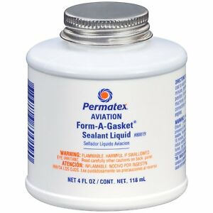 Permatex 80019 Aviation Form A Gasket No 3 Sealant Liquid 4 Oz Bottle