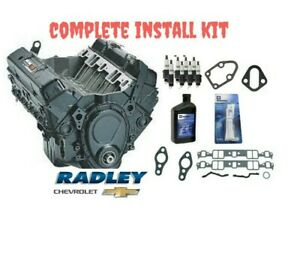 New Oem Gm Engine 350 Crate 195hp 12681429 10067353 W Install Kit Chevrolet