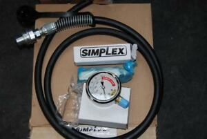 Simplex Hydraulic Hose Hca6 Gauge Assembly G5 And Ga1 Adapter 10000psi New