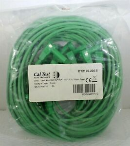 Caltest Ct2190 4mm Right angle Sheath Banana Plug plug Test Lead green pk Of 10