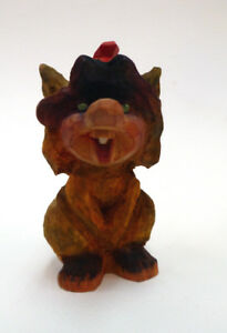 Vintage Hand Carved One Toothed Unsigned Troll Henning