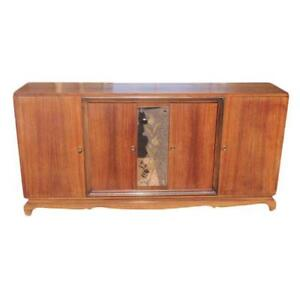 French Art Deco Sideboard Jules Leleu Style Palisander As Is