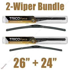 2 Wipers 26 24 Trico Force All Season Beam Wiper Blades 25 260 25 240