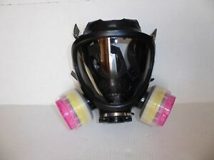 Scott Av 2000 Scba Mask With Full Facepeice 7800s Small With 2 Filters Nos