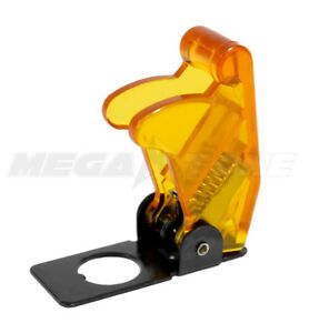 1 Pc Clear Amber Toggle Switch Safety Cover Guard Plastic metal Usa Seller