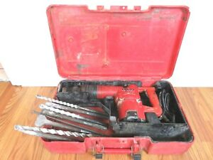 Hilti Te 72 Combi Rotary Hammer Drill 115v With Case Some Bits