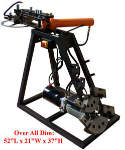 Electric Powered 10 Ton Hydraulic Pipe Tube Bender Bending 110 Volt 3 Dies