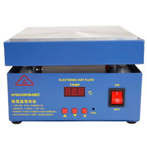 Hot Electronic Plate Preheat Preheating Repair Station 110v 800w For Smd Pcb