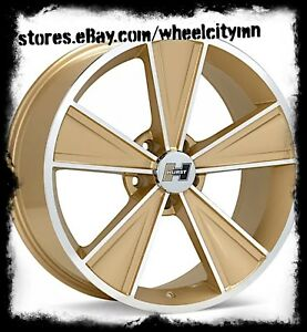 20 X8 5 Inch Gold Hurst Dazzler Ht325 Wheels Fits Dodge Charger Challenger 5x115