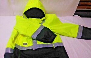 Men s Class 3 High Visibility 4 in 1 Parka With 3m Scotchlite Reflective Mat