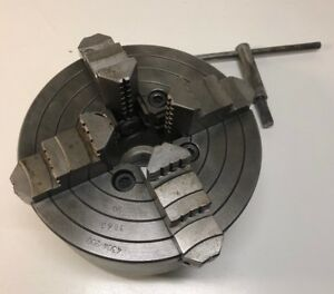 Bison Fpu 4 Jaw Independent Metal Lathe Chuck 8 4304 200 Works Great Poland