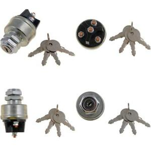 Ignition Switch Kit Universal Ignition Switch Keys Four Stud Terminals Starter