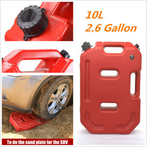 10l Abs Plastic Red Portable Diesel Oil Fuel Tank can For Suv Atv Car Motorcycle