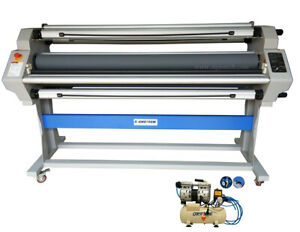 1630mm 64 Pneumatic Hot Cold Laminator Roll with Cutting Option Automatic bonus