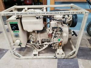 Military Mep 501a Yanmar Diesel Powered Enginegenerator Set 2kw 28vdc