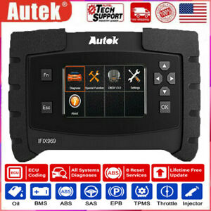 Full System Diesel Gasoline Engine Diagnostic Scanner Autek Ifix969 Scan Tool