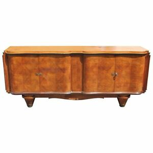 French Art Deco Palisander Rio Buffet Sideboard Jules Leleu Circa 1940s As Is