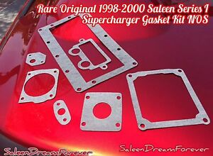 Rare 1998 2000 Saleen S281 Sc Mustang Series I Supercharger Gasket Kit Ford Nos