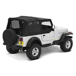 Bestop 51120 15 Replace A Top Soft Top Black Denim For 1988 1995 Jeep Wrangler